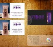 Дизайн визитки продажа дверей (2)