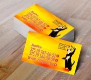 Дизайн визитки зоомагазин zoopro (2)