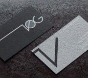 VIP визитки полная запечатка серебряной краской