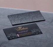 VIP визитки для визажиста на черном тачковер
